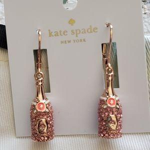 Kate Spade Champagne bottle earrings- NWT